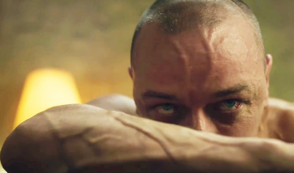 James McAvoy's muscles are....bulging.