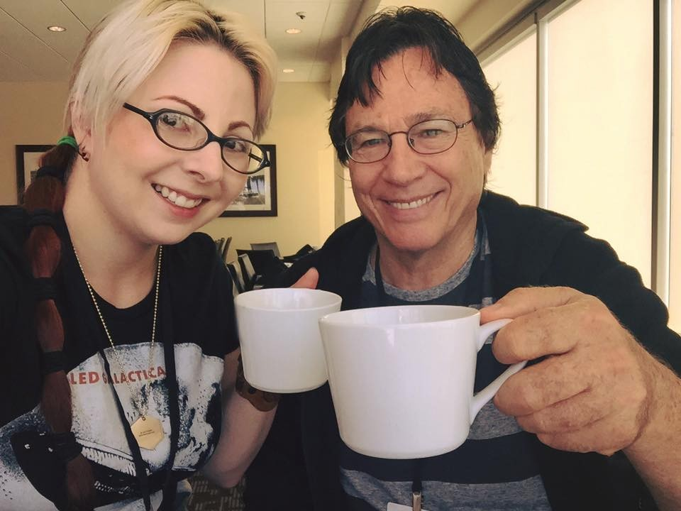 The morning of StocktonCon, sharing a First Cup Friday