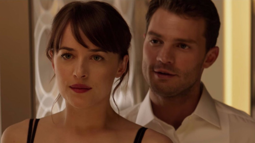 Dakota and Jamie as Anastasia and Christian