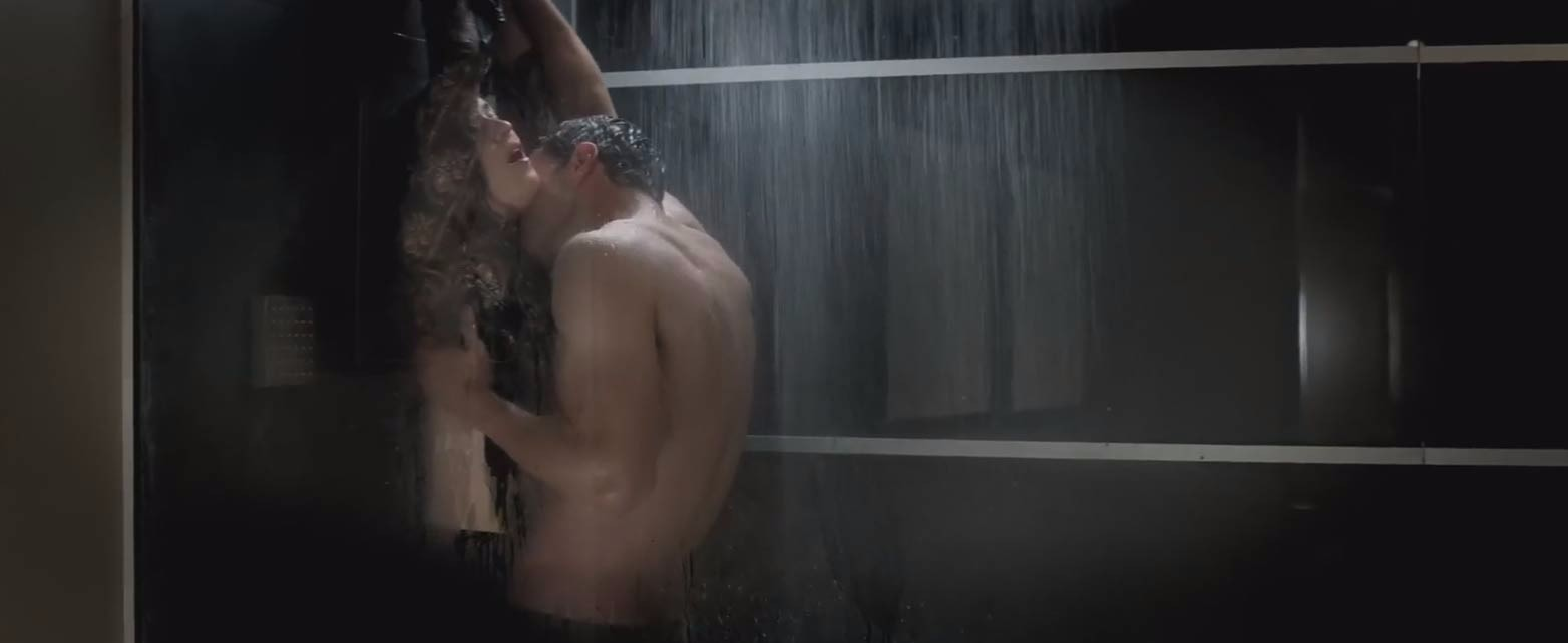 The big scene everyone was talking about from the trailer. THEY DON'T HAVE SEX IN THE SHOWER BECAUSE THEY DON'T KNOW HOW.